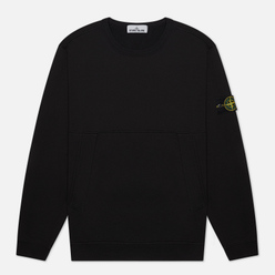 Мужская толстовка Stone Island Crew Neck Diagonal Pockets Black