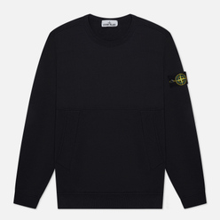 Мужская толстовка Stone Island Crew Neck Diagonal Pockets Navy Blue