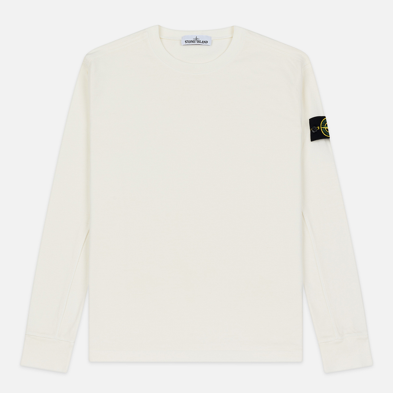 Мужская толстовка Stone Island Crew Neck Heavy Cotton Garment Dyed Ivory