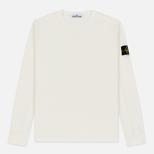 Мужская толстовка Stone Island Crew Neck Heavy Cotton Garment Dyed Ivory фото- 0