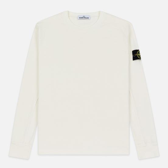 Мужская толстовка Stone Island Crew Neck Heavy Cotton Garment Dyed Ivory