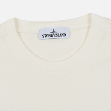 Мужская толстовка Stone Island Crew Neck Heavy Cotton Garment Dyed Ivory фото- 1