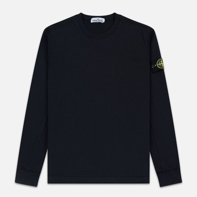 Мужская толстовка Stone Island Crew Neck Heavy Cotton Garment Dyed Navy