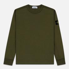 Мужская толстовка Stone Island Crew Neck Heavy Cotton Garment Dyed Olive Green фото- 0