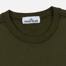 Мужская толстовка Stone Island Crew Neck Heavy Cotton Garment Dyed Olive Green фото- 1