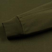 Мужская толстовка Stone Island Crew Neck Heavy Cotton Garment Dyed Olive Green фото- 3