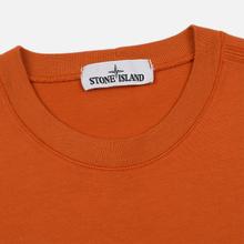 Мужская толстовка Stone Island Crew Neck Heavy Cotton Garment Dyed Orange фото- 1