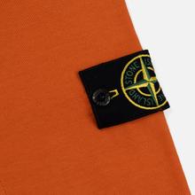 Мужская толстовка Stone Island Crew Neck Heavy Cotton Garment Dyed Orange фото- 2