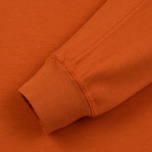 Мужская толстовка Stone Island Crew Neck Heavy Cotton Garment Dyed Orange фото- 3