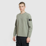 Мужская толстовка Stone Island Crew Neck Heavy Cotton Jersey Sage Green фото- 1