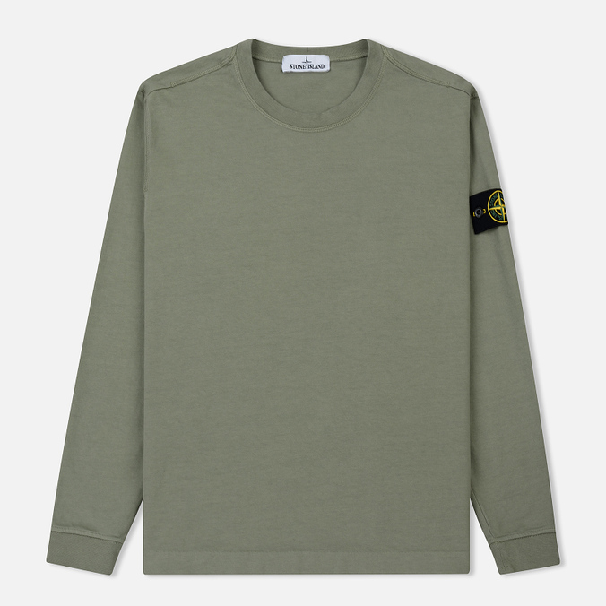 Мужская толстовка Stone Island Crew Neck Heavy Cotton Jersey Sage Green