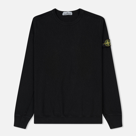 Мужская толстовка Stone Island Crew Neck Old Effect Black