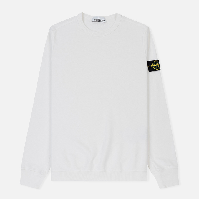 Мужская толстовка Stone Island Crew Neck Old Effect White