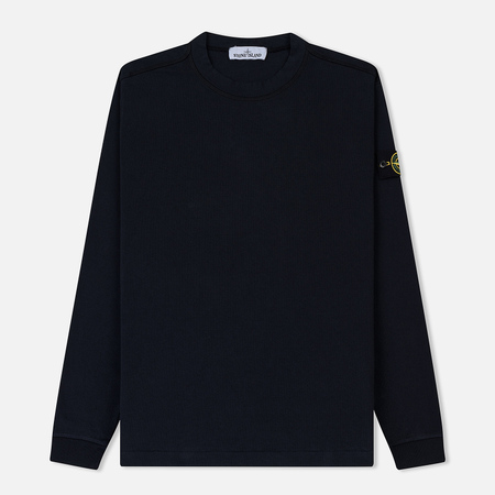Мужская толстовка Stone Island Crew Neck Ribbed Cuffs Navy Blue