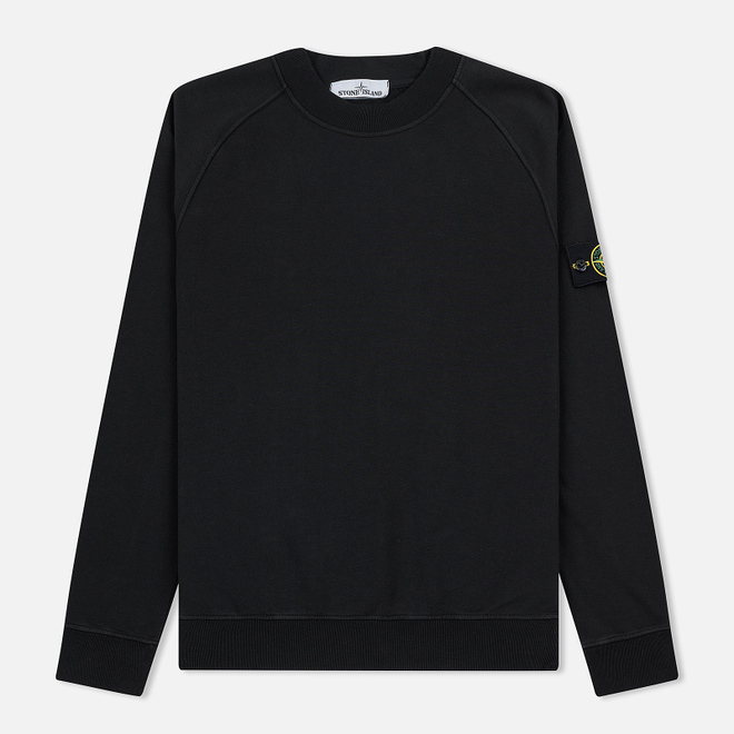 Мужская толстовка Stone Island Crew Neck Stretched Brushed Black