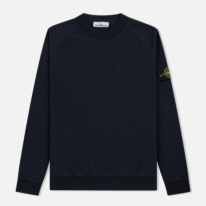 Мужская толстовка Stone Island Crew Neck Stretched Brushed Navy