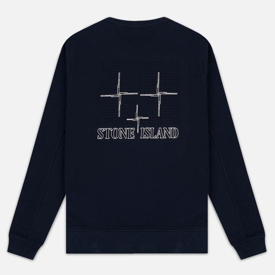 Мужская толстовка Stone Island Crew Neck Sweat Navy Blue