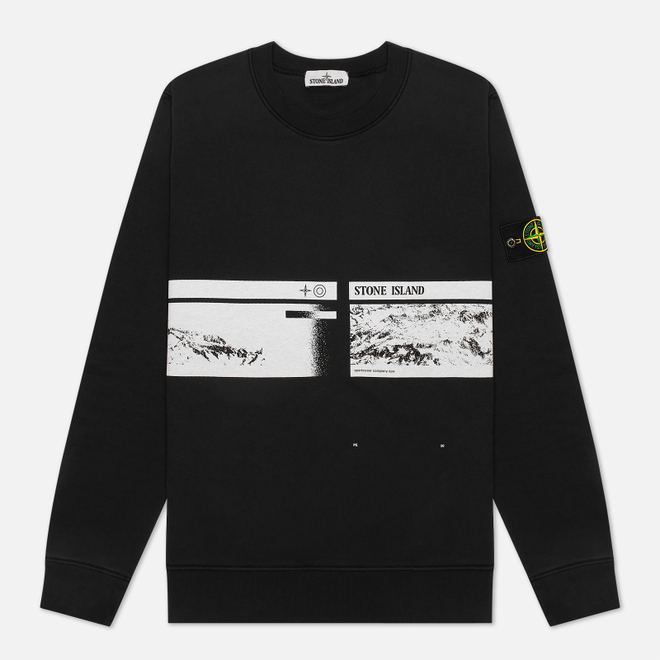 Мужская толстовка Stone Island Drone Three Crew Neck Black