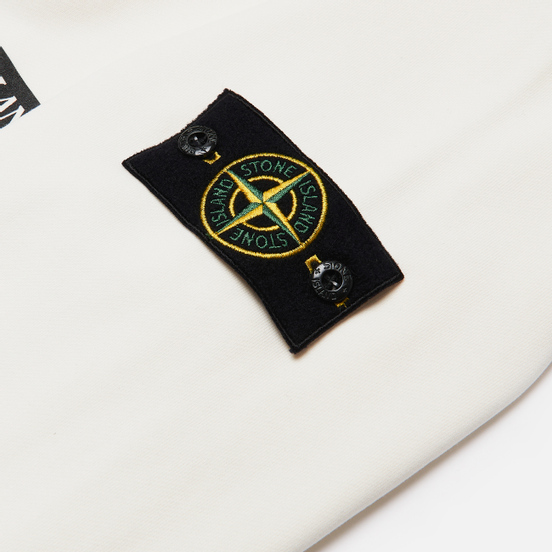 Мужская толстовка Stone Island Drone Three Crew Neck Ivory