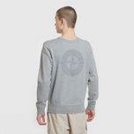 Мужская толстовка Stone Island Embossed Logo Applied Chest Dust Grey фото- 4