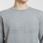 Мужская толстовка Stone Island Embossed Logo Applied Chest Dust Grey фото- 3