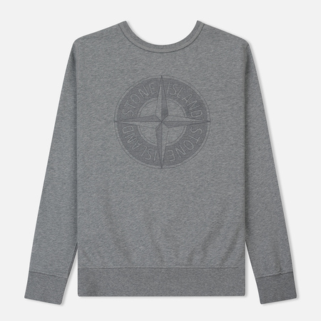 Мужская толстовка Stone Island Embossed Logo Applied Chest Dust Grey