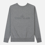 Мужская толстовка Stone Island Embossed Logo Applied Chest Dust Grey фото- 1