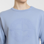 Мужская толстовка Stone Island Embossed Logo Applied Chest Lavender фото- 3