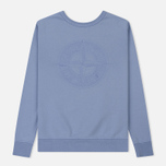 Мужская толстовка Stone Island Embossed Logo Applied Chest Lavender фото- 0