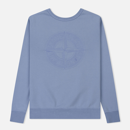 Мужская толстовка Stone Island Embossed Logo Applied Chest Lavender