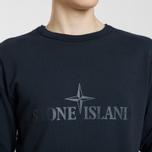 Мужская толстовка Stone Island Embossed Logo Applied Chest Navy Blue фото- 3