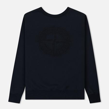 Мужская толстовка Stone Island Embossed Logo Applied Chest Navy Blue