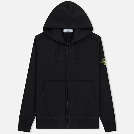 Мужская толстовка Stone Island Full Zip Hooded Black