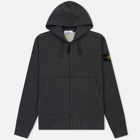 Мужская толстовка Stone Island Full Zip Hooded Light Grey