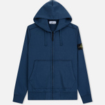Мужская толстовка Stone Island Full Zip Hooded Marine Blue фото- 0