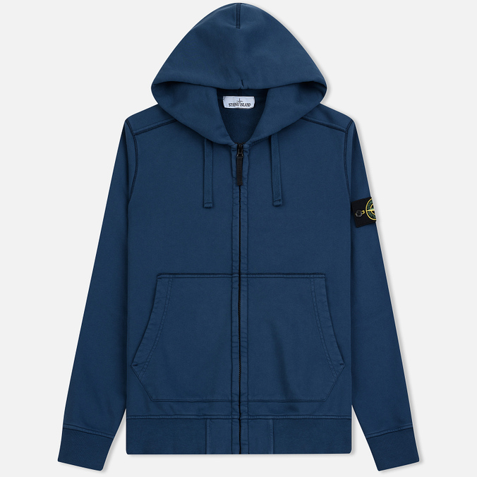 Мужская толстовка Stone Island Full Zip Hooded Marine Blue