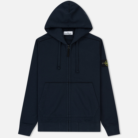 Мужская толстовка Stone Island Full Zip Hooded Navy Blue