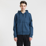 Мужская толстовка Stone Island Full Zip Hooded Marine Blue фото- 1