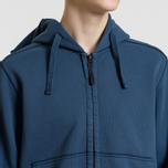 Мужская толстовка Stone Island Full Zip Hooded Marine Blue фото- 3
