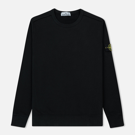 Мужская толстовка Stone Island Garment Dyed Brushed Jersey Black