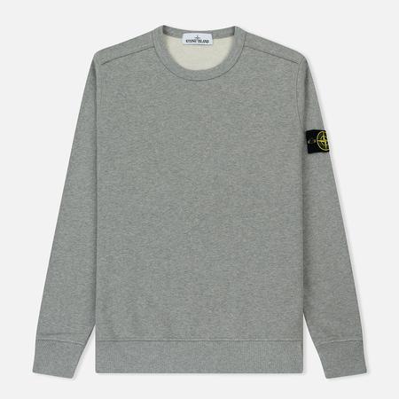 Мужская толстовка Stone Island Garment Dyed Brushed Jersey Dust Grey