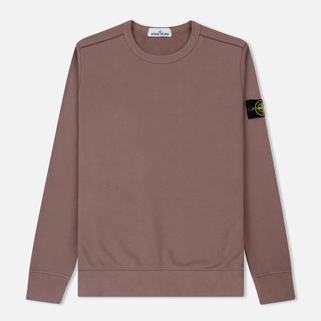 Мужская толстовка Stone Island Garment Dyed Brushed Jersey Pink Quartz