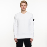 Мужская толстовка Stone Island Garment Dyed Brushed Jersey White фото- 4