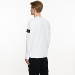 Мужская толстовка Stone Island Garment Dyed Brushed Jersey White фото- 5