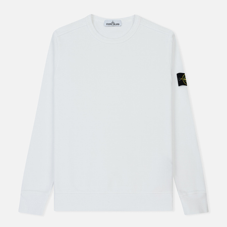 Мужская толстовка Stone Island Garment Dyed Brushed Jersey White
