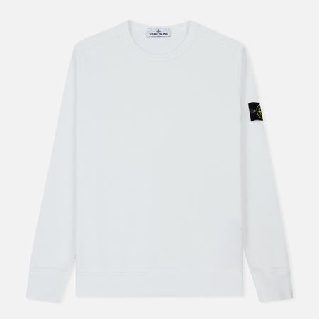 Мужская толстовка Stone Island Garment Dyed Brushed Jersey White