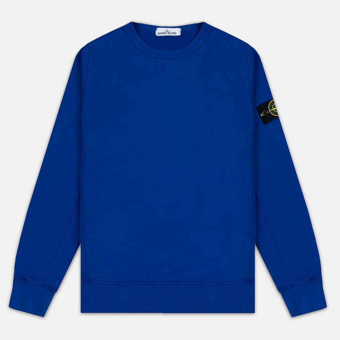 Мужская толстовка Stone Island Garment Dyed Crew Neck Blue