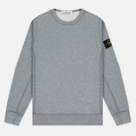 Мужская толстовка Stone Island Garment Dyed Crew Neck Light Grey фото- 0