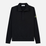 Мужская толстовка Stone Island Garment Dyed Half Zip Black фото- 0