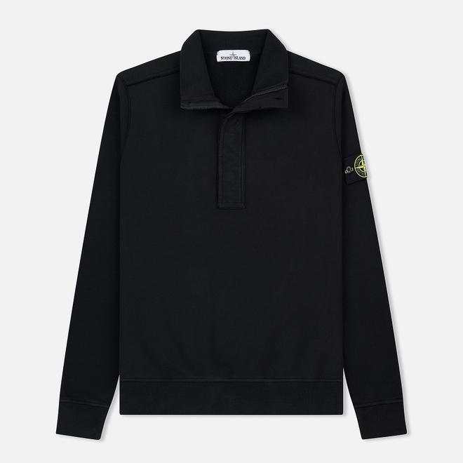 Мужская толстовка Stone Island Garment Dyed Half Zip Black